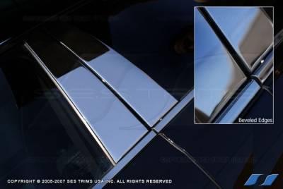SES Trim - Ford Explorer SES Trim Pillar Post - 304 Mirror Shine Stainless Steel - with Keypad - 6PC - P101 - Image 2
