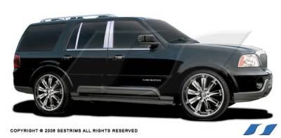 Navigator - Body Kit Accessories - SES Trim - Lincoln Navigator SES Trim Pillar Post - 304 Mirror Shine Stainless Steel - 6PC - P102