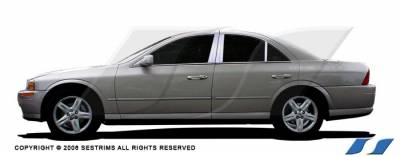 LS - Body Kit Accessories - SES Trim - Lincoln LS SES Trim Pillar Post - 304 Mirror Shine Stainless Steel - 6PC - P104
