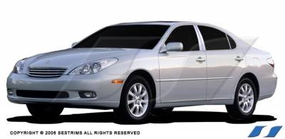 ES - Body Kit Accessories - SES Trim - Lexus ES SES Trim Pillar Post - 304 Mirror Shine Stainless Steel - 6PC - P105