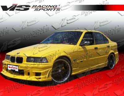 3 Series 4Dr - Front Bumper - VIS Racing - BMW 3 Series VIS Racing Ballistix Front Bumper - 92BME362DBX-001