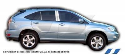 RX300 - Body Kit Accessories - SES Trim - Lexus RX SES Trim Pillar Post - 304 Mirror Shine Stainless Steel - 6PC - P107