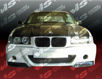 3 Series 4Dr - Front Bumper - VIS Racing - BMW 3 Series VIS Racing Front Lip with CSL Style Conversion Bumper Carbon Fiber Lip - 92BME362DCSL-011C