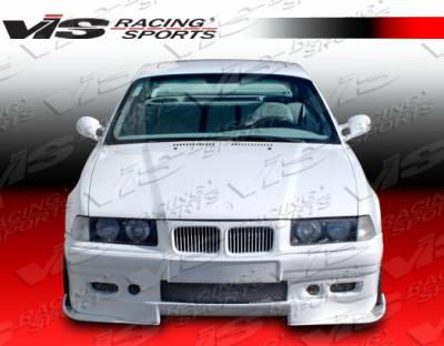 3 Series 4Dr - Front Bumper - VIS Racing - BMW 3 Series VIS Racing Euro Tech Front Bumper - 92BME362DET-001