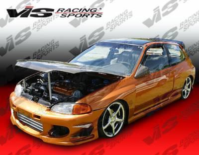 Civic 2Dr - Front Bumper - VIS Racing - Honda Civic 2DR & HB VIS Racing Ballistix Front Bumper - 92HDCVC2DBX-001
