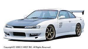 Silvia - Front Bumper - C-West - Zenki Front Bumper