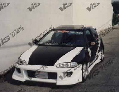 Civic 2Dr - Front Bumper - VIS Racing - Honda Civic 2DR & HB VIS Racing Battle Z Front Bumper - 92HDCVC2DBZ-001