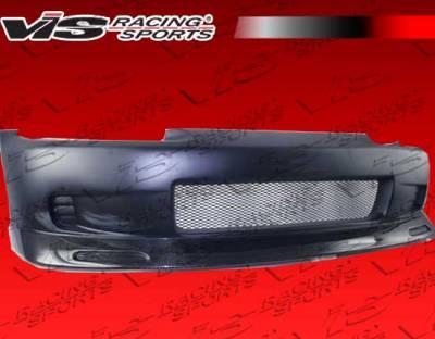 Civic 2Dr - Front Bumper - VIS Racing - Honda Civic 2DR & Hatchback VIS Racing Crow Front Bumper with Built In Carbon Lip - 92HDCVC2DCRO-001CC