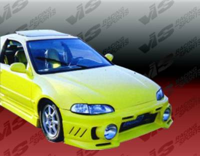 Civic 2Dr - Front Bumper - VIS Racing - Honda Civic 2DR & HB VIS Racing EVO-3 Front Bumper - 92HDCVC2DEVO3-001