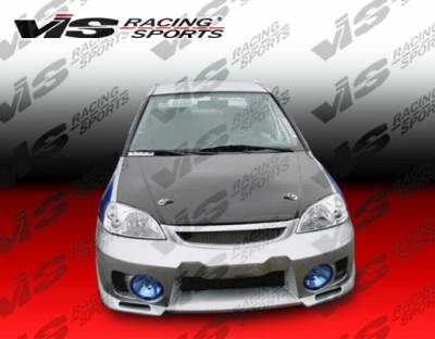 Civic 2Dr - Front Bumper - VIS Racing - Honda Civic 2DR & HB VIS Racing EVO-5 Front Bumper - 92HDCVC2DEVO5-001