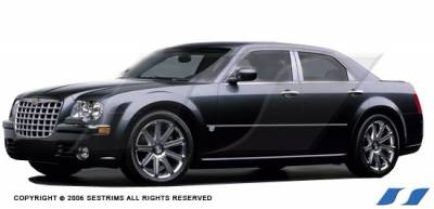 300 - Body Kit Accessories - SES Trim - Chrysler 300 SES Trim Pillar Post - 304 Mirror Shine Stainless Steel - 6PC - P111