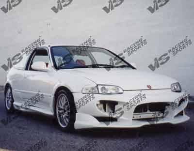 Civic 2Dr - Front Bumper - VIS Racing - Honda Civic 2DR & HB VIS Racing Invader-1 Front Bumper - 92HDCVC2DINV1-001