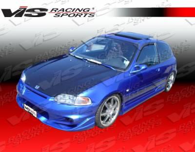 Civic 2Dr - Front Bumper - VIS Racing - Honda Civic 2DR & HB VIS Racing Invader-6 Front Bumper - 92HDCVC2DINV6-001