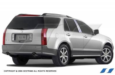 SRX - Body Kit Accessories - SES Trim - Cadillac SRX SES Trim Pillar Post - 304 Mirror Shine Stainless Steel - 6PC - P112