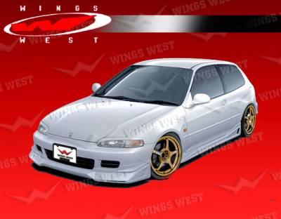 Civic 2Dr - Front Bumper - VIS Racing - Honda Civic 2DR & Hatchback VIS Racing JPC Type B Front Lip - Polyurethane - 92HDCVC2DJPCB-011P