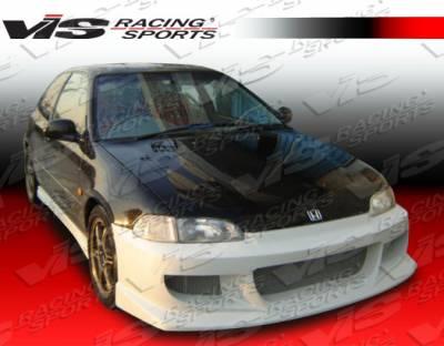 Civic 2Dr - Front Bumper - VIS Racing - Honda Civic 2DR & HB VIS Racing J Speed Front Bumper - 92HDCVC2DJSP-001