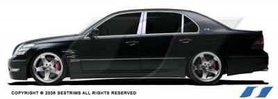 LS400 - Body Kit Accessories - SES Trim - Lexus LS SES Trim Pillar Post - 304 Mirror Shine Stainless Steel - 6PC - P115