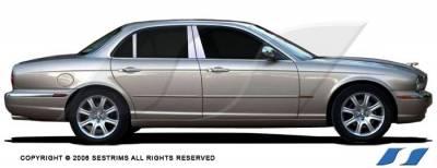 XJ8 - Body Kit Accessories - SES Trim - Jaguar XJ8 SES Trim Pillar Post - 304 Mirror Shine Stainless Steel - 6PC - P117