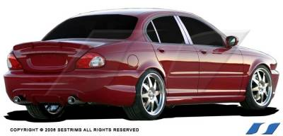 X Type - Body Kit Accessories - SES Trim - Jaguar X Type SES Trim Pillar Post - 304 Mirror Shine Stainless Steel - 6PC - P118