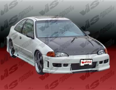 Civic 2Dr - Front Bumper - VIS Racing - Honda Civic 2DR & Hatchback VIS Racing Z1 Front Bumper - Polyurethane - 92HDCVC2DZ1-001P
