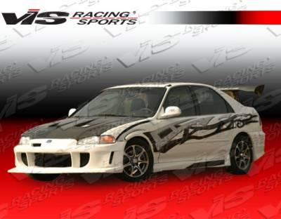 Civic 4Dr - Front Bumper - VIS Racing - Honda Civic 4DR VIS Racing Wings Front Bumper - 92HDCVC4DWIN-001