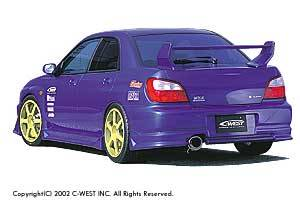 Impreza - Rear Bumper - C-West - Zenki Rear Bumper