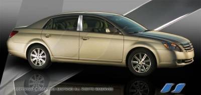 GS - Body Kit Accessories - SES Trim - Lexus GS SES Trim Pillar Post - 304 Mirror Shine Stainless Steel - 6PC - P128