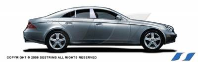 CLS - Body Kit Accessories - SES Trim - Mercedes-Benz CLS SES Trim Pillar Post - 304 Mirror Shine Stainless Steel - 4PC - P130