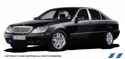 S Class - Body Kit Accessories - SES Trim - Mercedes-Benz S Class SES Trim Pillar Post - 304 Mirror Shine Stainless Steel - 6PC - P131