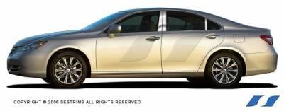 ES - Body Kit Accessories - SES Trim - Lexus ES SES Trim Pillar Post - 304 Mirror Shine Stainless Steel - 6PC - P139