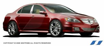 RL - Body Kit Accessories - SES Trim - Acura RL SES Trim Pillar Post - 304 Mirror Shine Stainless Steel - 6PC - P141