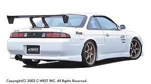 Silvia - Rear Bumper - C-West - Rear Bumper