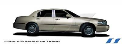 Grand Marquis - Body Kit Accessories - SES Trim - Mercury Grand Marquis SES Trim Pillar Post - 304 Mirror Shine Stainless Steel - 6PC - P149