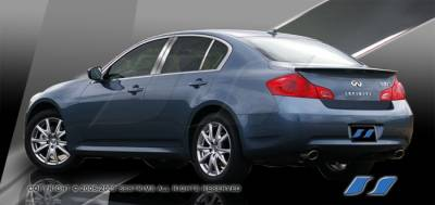 G37 - Body Kit Accessories - SES Trim - Infiniti G37 SES Trim Pillar Post - 304 Mirror Shine Stainless Steel - 6PC - P155