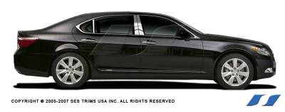 LS400 - Body Kit Accessories - SES Trim - Lexus LS SES Trim Pillar Post - 304 Mirror Shine Stainless Steel - 6PC - P156