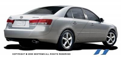 Sonata - Body Kit Accessories - SES Trim - Hyundai Sonata SES Trim Pillar Post - 304 Mirror Shine Stainless Steel - 6PC - P160