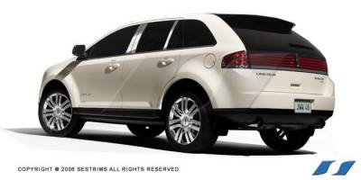 MKX - Body Kit Accessories - SES Trim - Lincoln MKX SES Trim Pillar Post - 304 Mirror Shine Stainless Steel - 6PC - P166