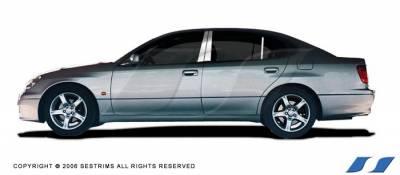 GS - Body Kit Accessories - SES Trim - Lexus GS SES Trim Pillar Post - 304 Mirror Shine Stainless Steel - 6PC - P168