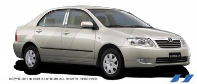 Corolla - Body Kit Accessories - SES Trim - Toyota Corolla SES Trim Pillar Post - 304 Mirror Shine Stainless Steel - 6PC - P171