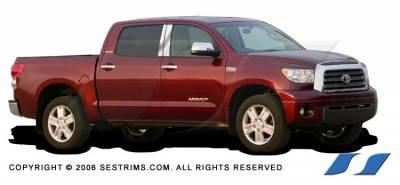 Sequoia - Body Kit Accessories - SES Trim - Toyota Sequoia SES Trim Pillar Post - 304 Mirror Shine Stainless Steel - 4PC - P174