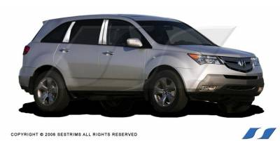 MDX - Body Kit Accessories - SES Trim - Acura MDX SES Trim Pillar Post - 304 Mirror Shine Stainless Steel - 6PC - P177