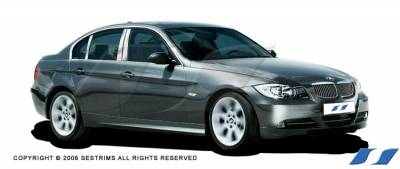 3 Series 2Dr - Body Kit Accessories - SES Trim - BMW 3 Series SES Trim Pillar Post - 304 Mirror Shine Stainless Steel - 6PC - P182