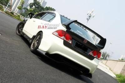 Civic 4Dr - Rear Bumper - Bay Speed - Honda Civic 4DR Bay Speed Type R Rear Bumper - CFRP - CF3038TR