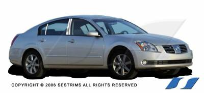 Maxima - Body Kit Accessories - SES Trim - Nissan Maxima SES Trim Pillar Post - 304 Mirror Shine Stainless Steel - 6PC - P185