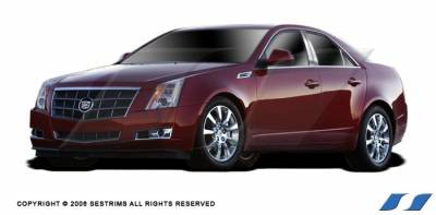 CTS - Body Kit Accessories - SES Trim - Cadillac CTS SES Trim Pillar Post - 304 Mirror Shine Stainless Steel - 6PC - P186