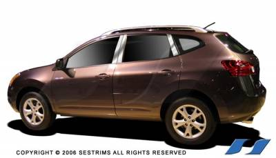 Rogue - Body Kit Accessories - SES Trim - Nissan Rogue SES Trim Pillar Post - 304 Mirror Shine Stainless Steel - P188