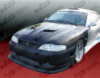 Mustang - Front Bumper - VIS Racing - Ford Mustang VIS Racing Cobra R Front Bumper - Polyurethane - 94FDMUS2DCR-001P