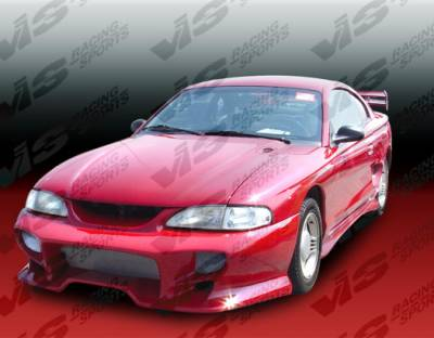 Mustang - Front Bumper - VIS Racing - Ford Mustang VIS Racing Invader Front Bumper - 94FDMUS2DINV-001