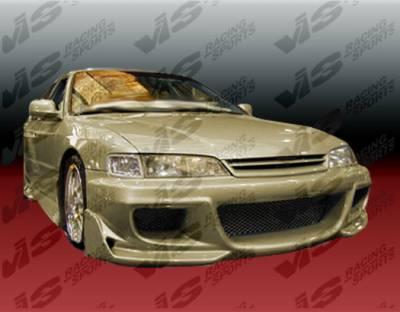 Accord 2Dr - Front Bumper - VIS Racing - Honda Accord 2DR & 4DR VIS Racing Cyber Front Bumper - 94HDACC2DCY-001