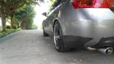 G35 4Dr - Rear Bumper - Bay Speed - Infiniti G35 4DR Bay Speed OEM Rear Bumper Caps - CFRP - CF3504OE-RC